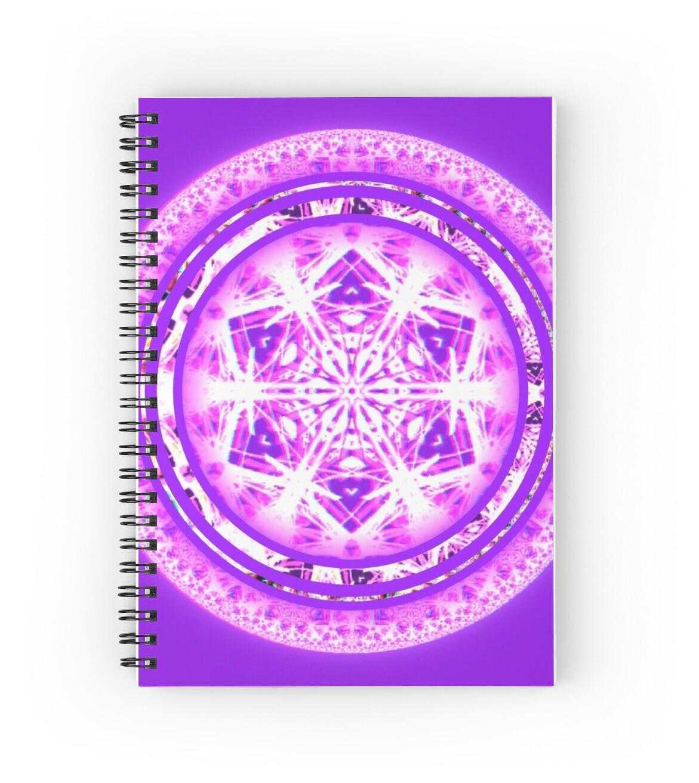 """Crown Chakra Mandala"" Spiral Notebooks by DMoniqueBArt ..."
