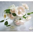 Pale Pink Vintage Roses Still Life by LouiseK