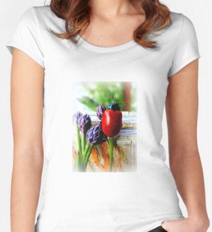 Pappelblattkäfer (Chrysomela populi) Women's Fitted Scoop T-Shirt