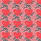 Pattern of flowers and hearts by Tanor
