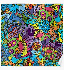 Psychedelic LSD Trip Ornament 0001 Poster