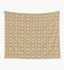 Orange Patterned Overload  Wall Tapestry