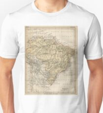 Vintage Map of Brazil (1889) Unisex T-Shirt