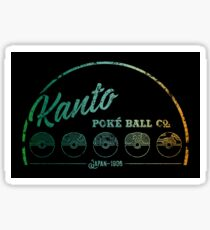 Green Kanto Poké Ball Company Sticker