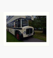 Vintage Sheffield Bus Art Print