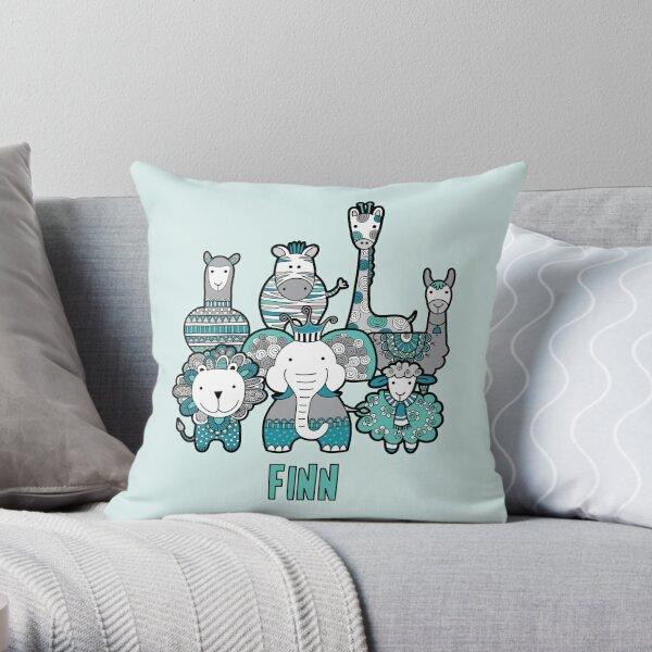 Doodle Critters Finn Throw Pillow