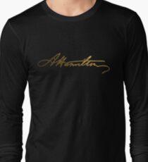 Alexander Hamilton Gold Signature Long Sleeve T-Shirt