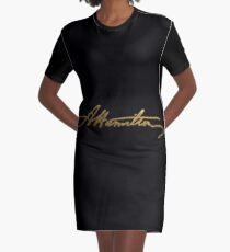 Alexander Hamilton Gold Signature Graphic T-Shirt Dress