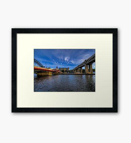 Between the Bridges Framed Print