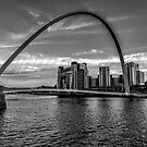Gateshead Millenium Bridge by Trevor Kersley