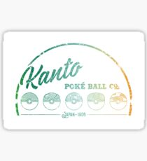 Green Kanto Poké Ball Company on White Sticker