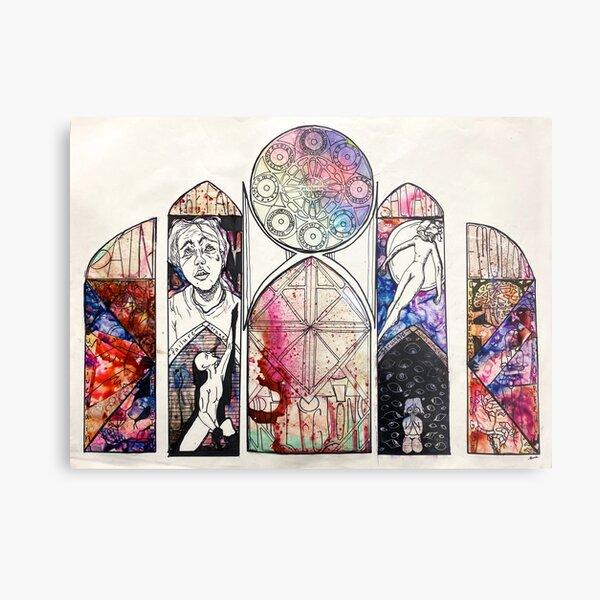 Religion Mind Map Metal Print