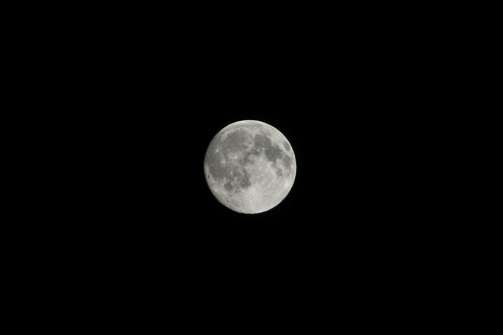 Full Moon, Bolzano/Bozen, Italy by L Lee McIntyre