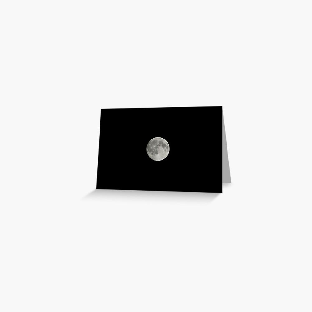 Full Moon, Bolzano/Bozen, Italy Greeting Card