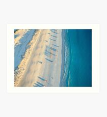 cable beach areall sunset  Art Print