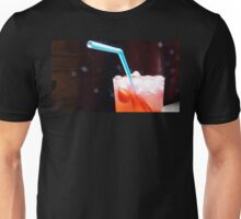Refreshing Strawberry Drink with Blue Straw Unisex T-Shirt