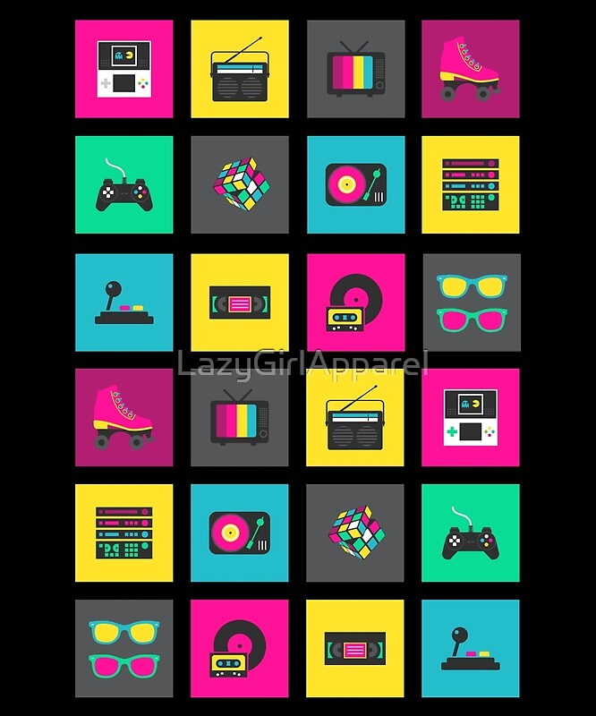Quot 80 S Icons Quot By Lazygirlapparel Redbubble