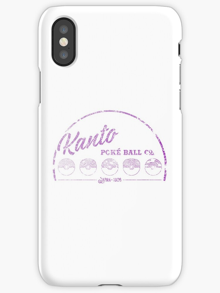 Purple Kanto Poké Ball Company on white by Toby Shepherd