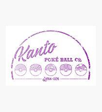 Purple Kanto Poké Ball Company on white Photographic Print