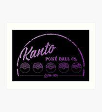 Purple Kanto Poké Ball Company Art Print