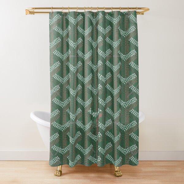 green natural Shower Curtain