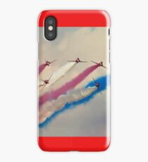 Red Arrows split iPhone Case