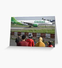 Citilink airplane Greeting Card