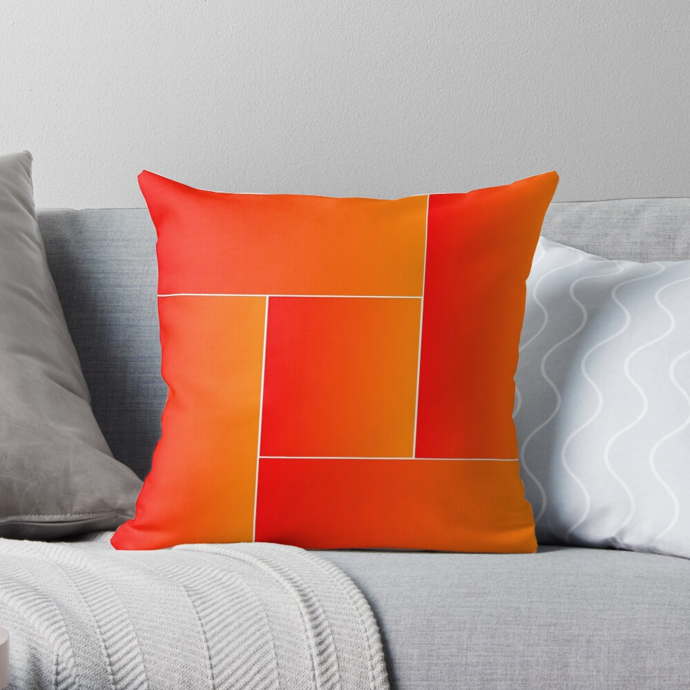 Red Weaving Throw Pillow