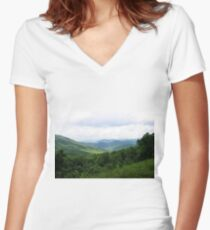 Smoky Mountains Women's Fitted V-Neck T-Shirt