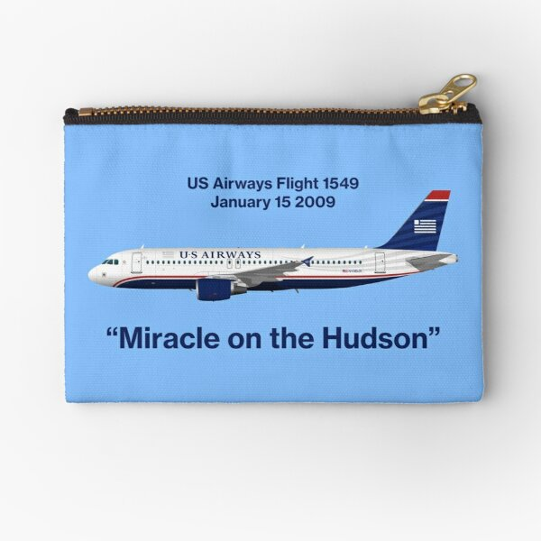 Miracle on the Hudson - US Airways A320 - Blue Version Zipper Pouch