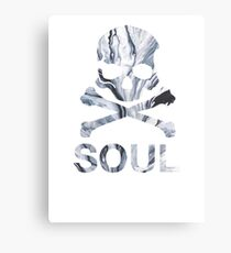 soul - gray marble Canvas Print