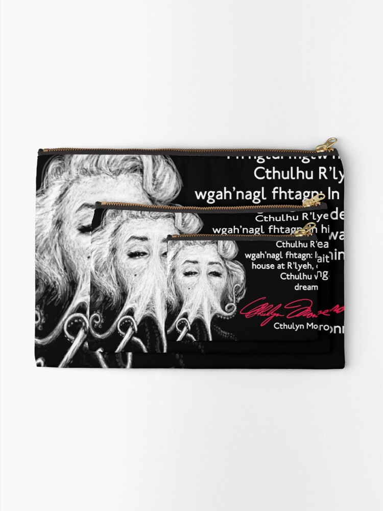 Alternate view of Inspirational Quote Zipper Pouch