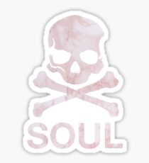 soul - pink marble Sticker