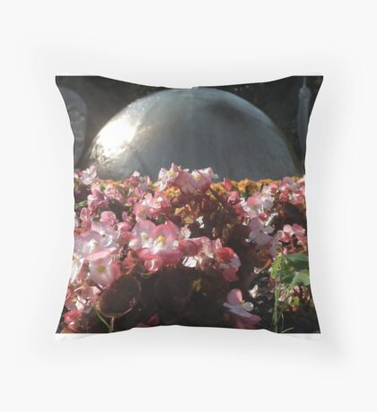 Floral and Art Throw Pillow