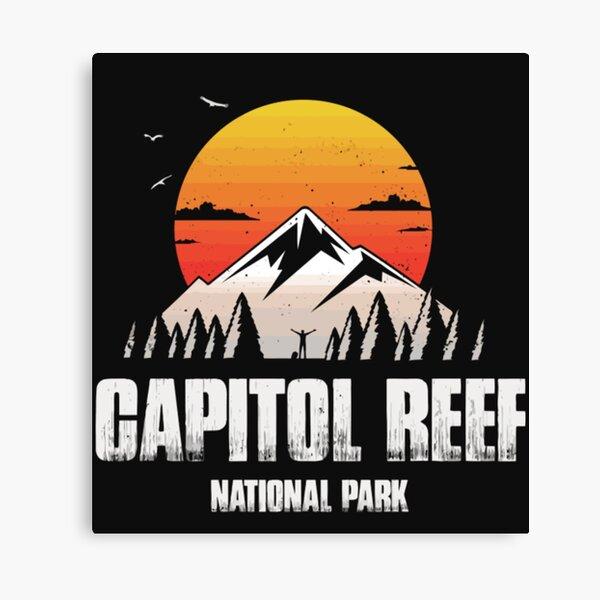 Capitol Reef Reminder National Park Souvenir T Shirt  Canvas Print