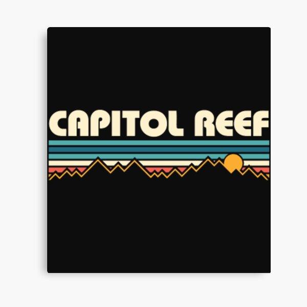 Capitol Reef National Park Sunset RetroT Shirt  Canvas Print
