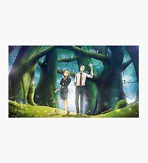 Xfiles - Ghibli (Mononoke's Forest) w/background Photographic Print