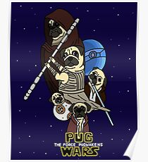 Pug Wars: The Force Pugwakens Poster