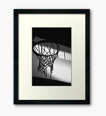Basketball Hoop Silhouette  Framed Print