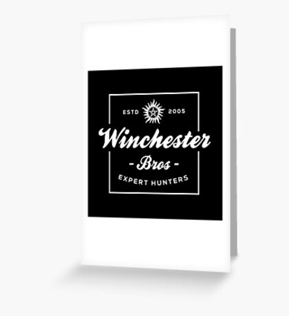 Winchester Bros - Expert Hunters Greeting Card