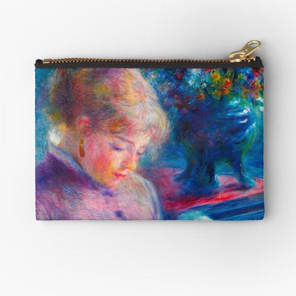 Young Woman Sewing (1879) by Pierre-Auguste Renoir ORIGINAL BEST RENOIR Zipper Pouch