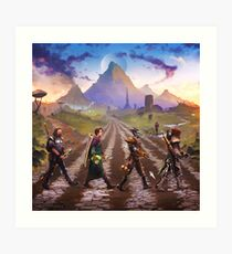 Advenrures Road Art Print