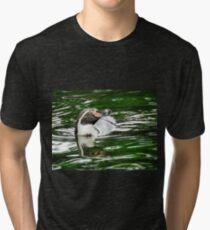 Penguin in emerald water Tri-blend T-Shirt