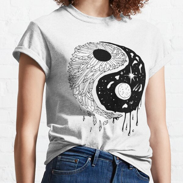 Yin Yang Crystals and The Night Sky Classic T-Shirt
