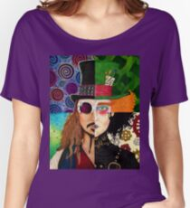 Johnny Depp Character Collage Women's Relaxed Fit T-Shirt