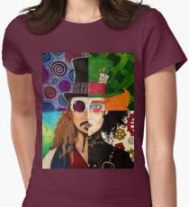 Johnny Depp Character Collage Women's Fitted T-Shirt