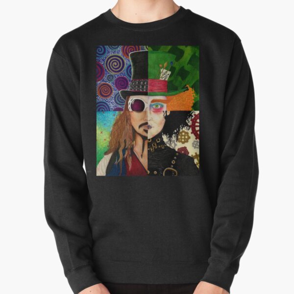 Johnny Depp Character Collage Pullover Sweatshirt