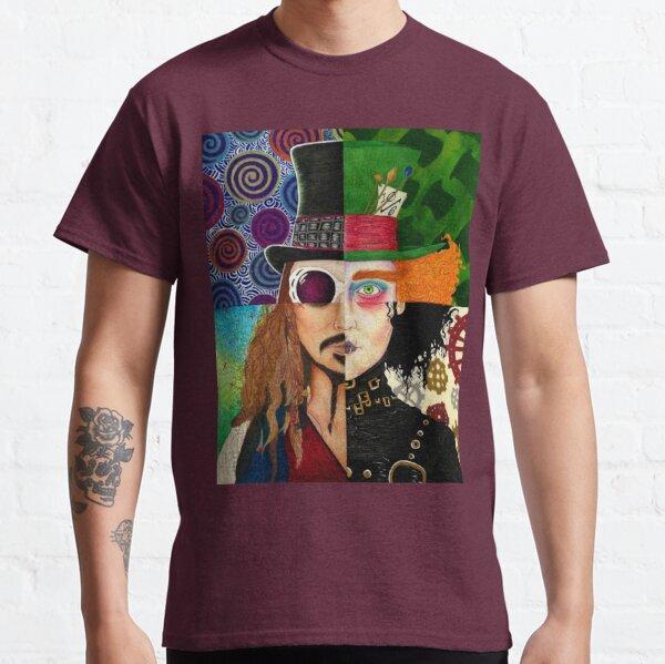 Collage de personnages de Johnny Depp T-shirt classique
