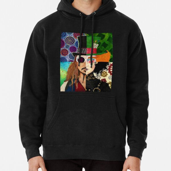Johnny Depp Character Collage Pullover Hoodie