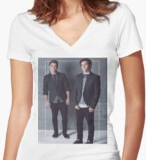 Dolan twins models Women's Fitted V-Neck T-Shirt